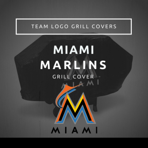 Miami Marlins Team Logo Grill Covers